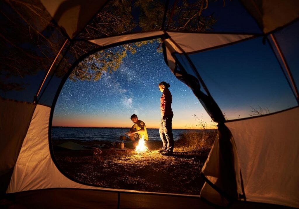 Camping tent water fire RF