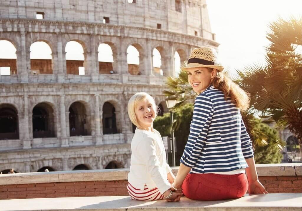 Rome family travel Colosseum mother RF