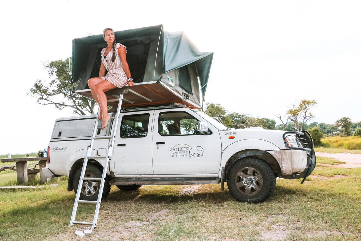 Wild camping in Botswana by Paula Martinelli