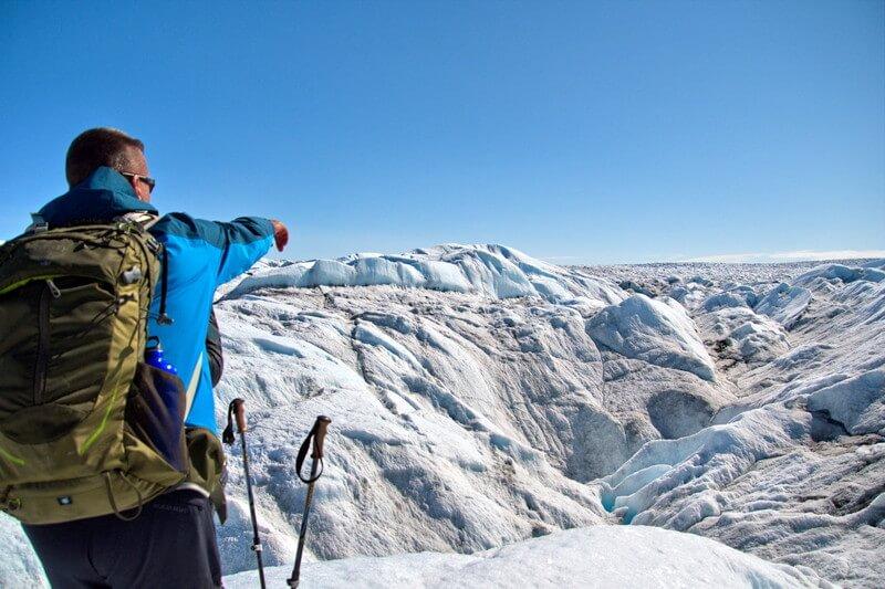 Greenland ice sheet hike