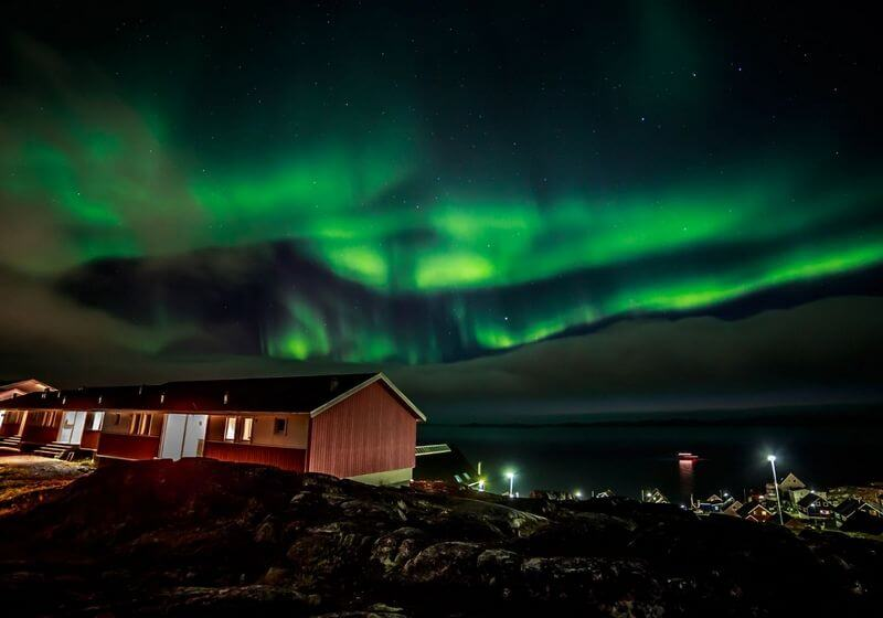 Northern lights greenland RF