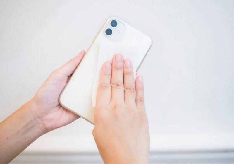 Smartphone camera lens clean RF