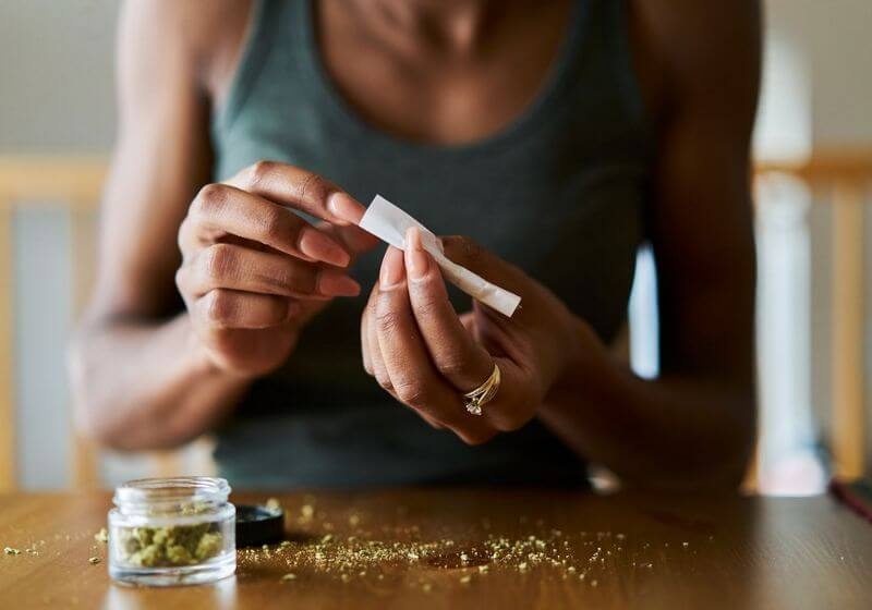 Smoke cannabis marijuana RF