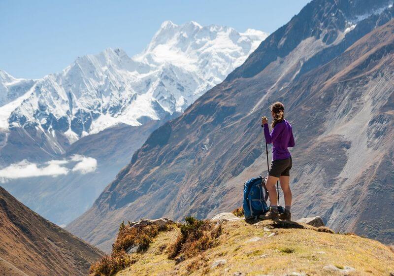 Manaslu Circuit Trek hiker woman RF