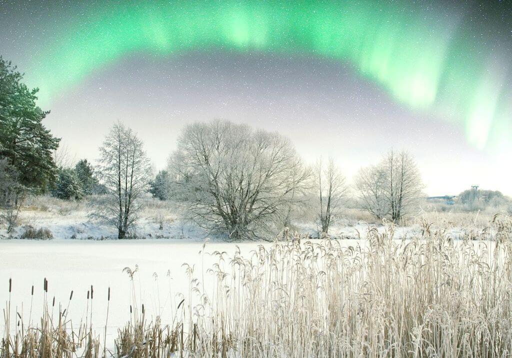 Northern lights snow RF