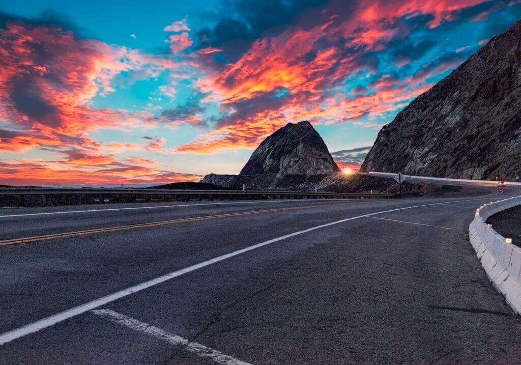 Pacific Coast Highway Sunset Roadtrip RF