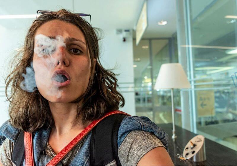 Smoking airport cigarette RF