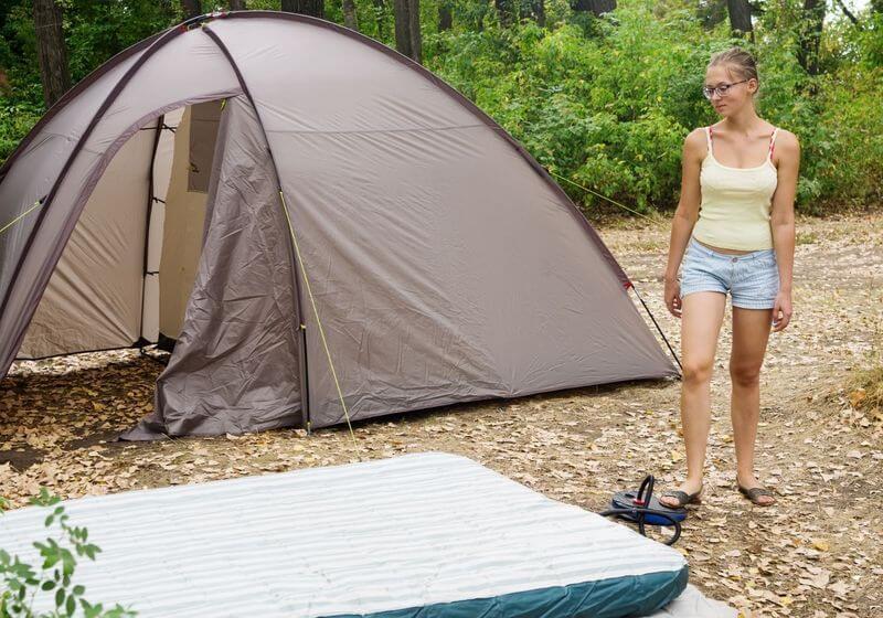 Air mattress tent camp RF