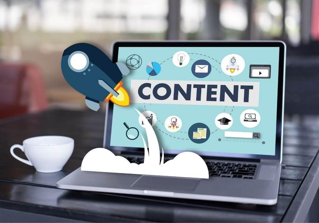 Blog content laptop RF