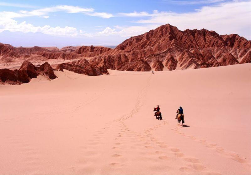 Horse riding desert Chile RF