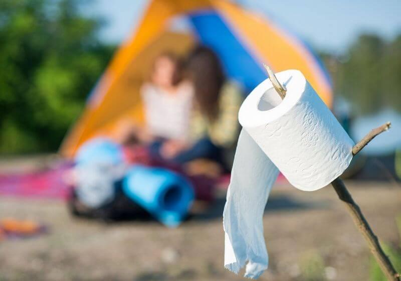 Toilet paper tent camping bathroom RF