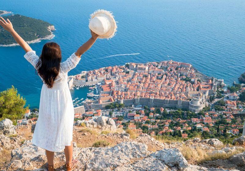 Dubrovnik Croatia Female Traveler RF