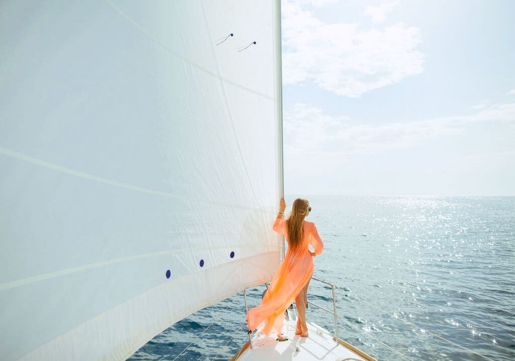 Yacht water sailing RF