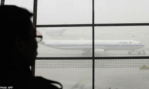 smog in beijing grounds flights