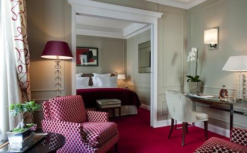 room at Le Burgundy Hotel in Paris