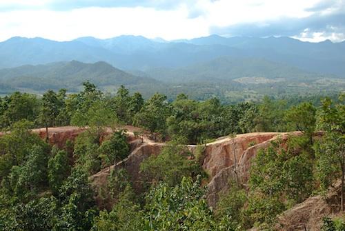 mountains near pai thailand