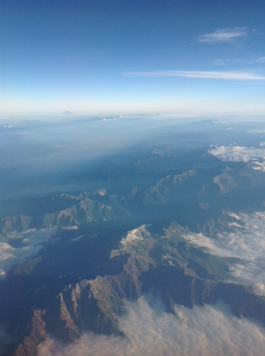 view over japan from air china flight