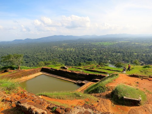 View of Sri Lankan countryside from the top of Sigiriya