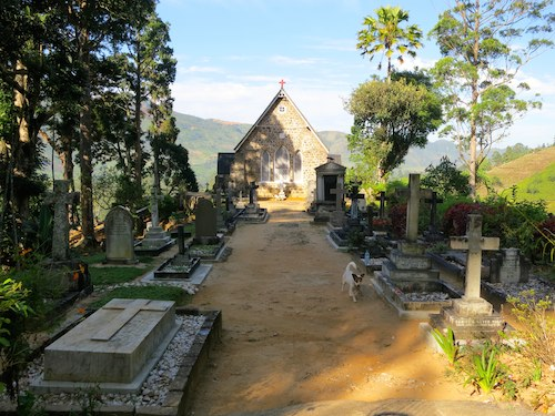 Warleigh church and cemetery in Sri Lanka