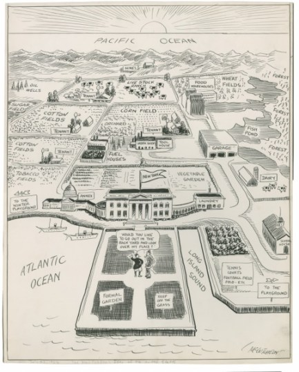 John T. McCutcheon, The New Yorker's Idea of the Map of the United States, 1922. Newberry Library.