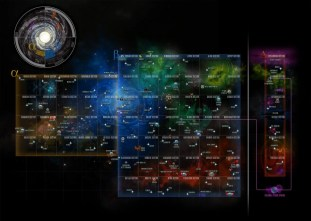 In-Game Galaxy Map, Season 10. Star Trek Online.