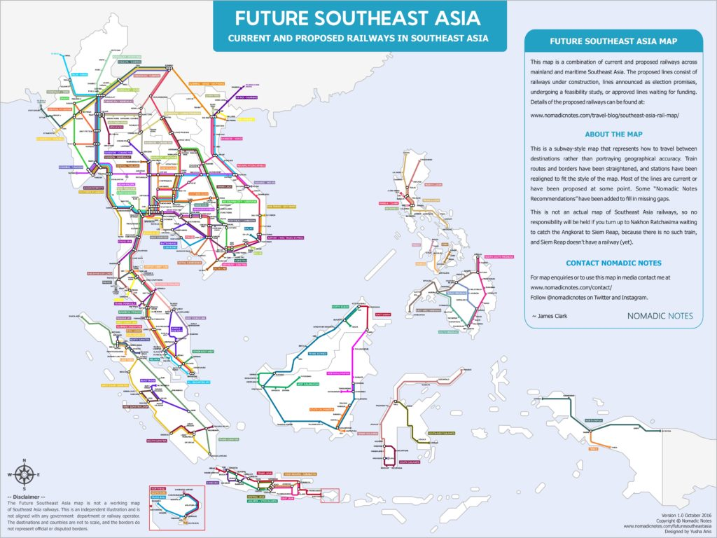 Map Of Asia Fill In.A Map Of Southeast Asia S Future Rail Lines The Map Room