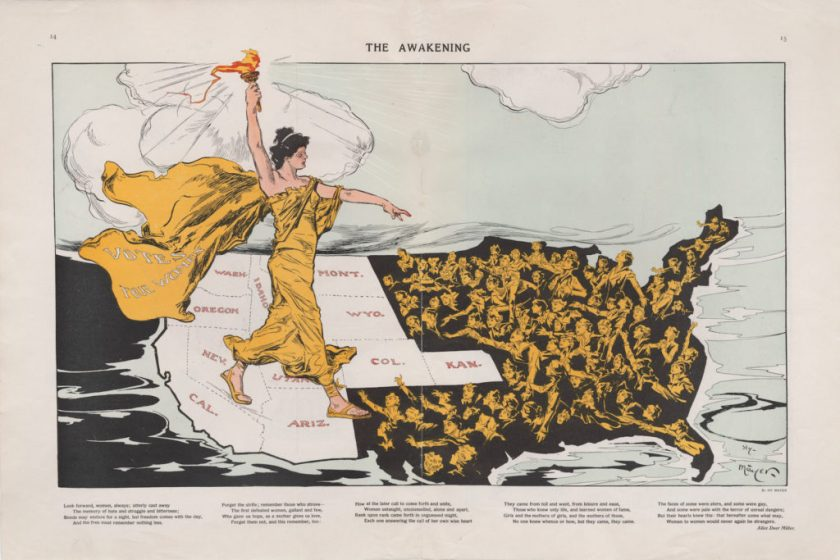 """The Awakening,"" Puck Magazine, 20 February 1915. P. J. Mode Collection of Persuasive Cartography, Cornell University Library."