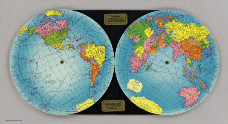 The Global Map (The Global Map Company, 1940). David Rumsey Map Collection.