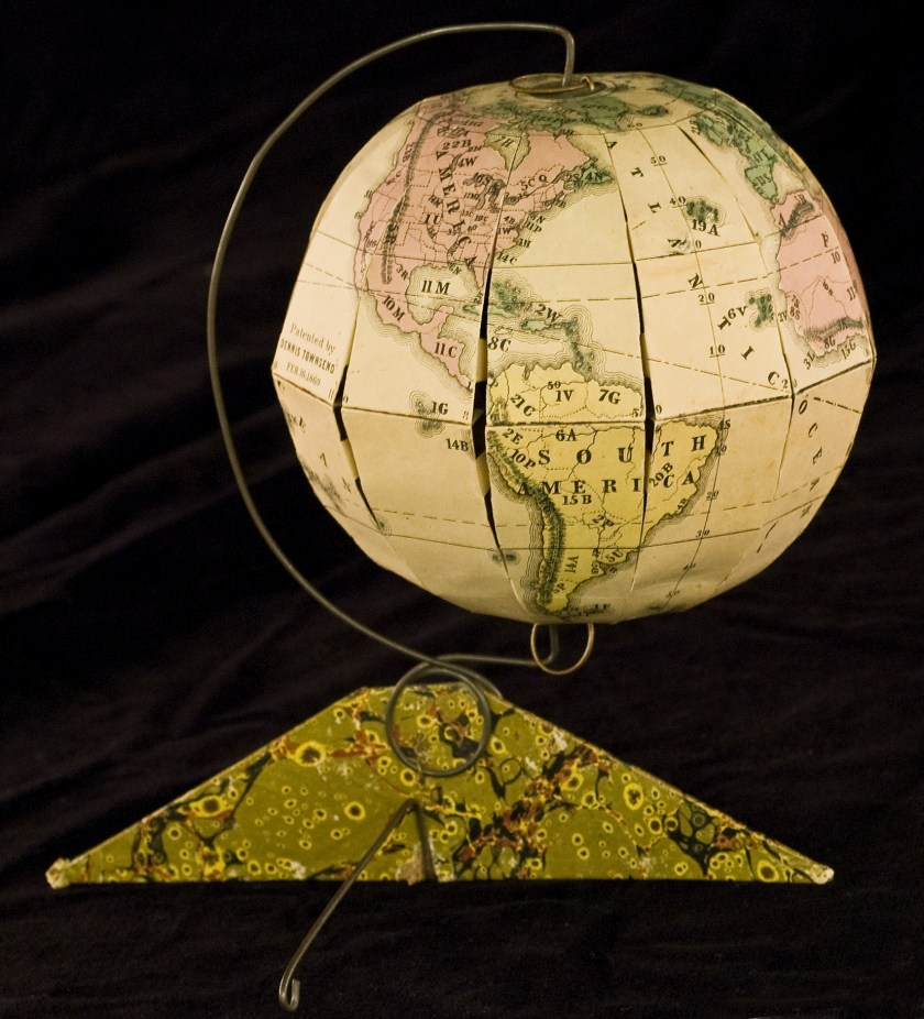 "Dennis Townsend, ""Townsend's Patent Folding Globe,"" 1869. Norman B. Leventhal Map Center."