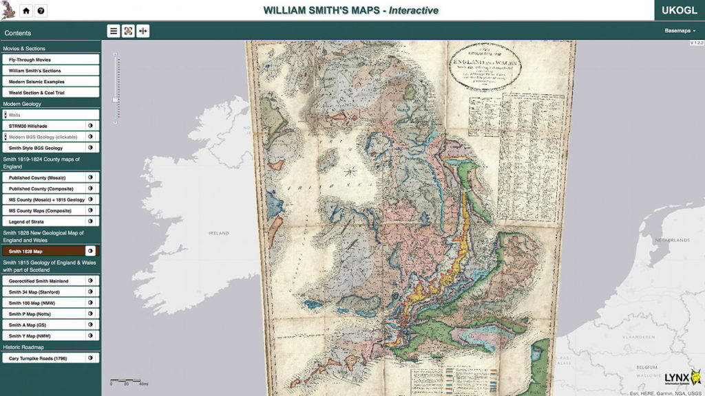 william smith's geological maps online - the map room