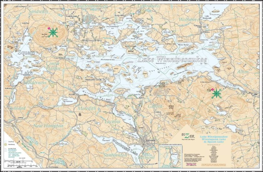 The Great Lake Winnipesaukee Map Fight – The Map Room on