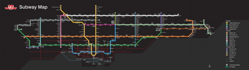 Toronto Subway Map.A Fantasy Ttc Subway Map The Map Room