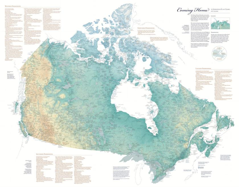 Coming Home to Indigenous Place Names in Canada (map)