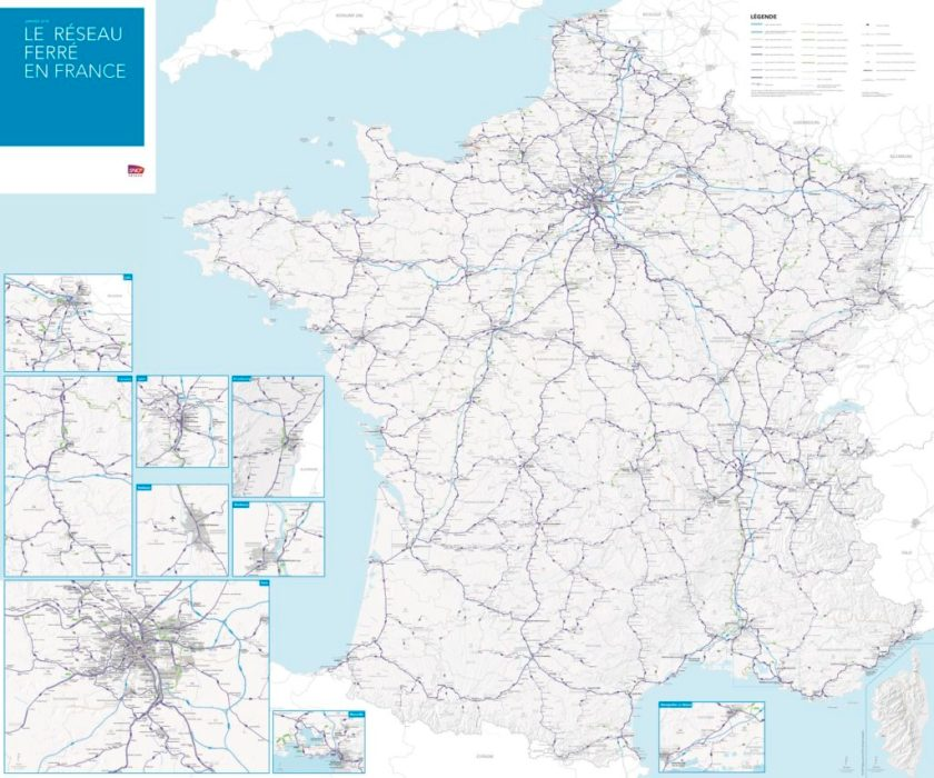 French Rail Network Map Updated The Map Room