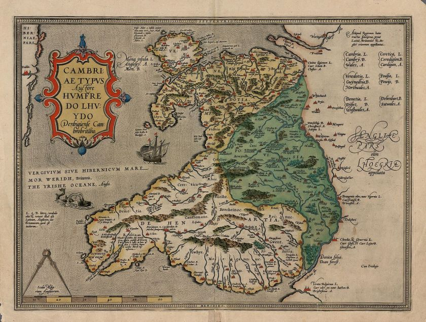 Map 347.Humphrey Llwyd Exhibition In Wales The Map Room