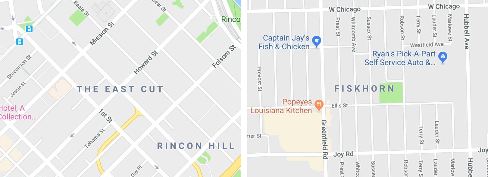 Google's Invented Neighbourhoods