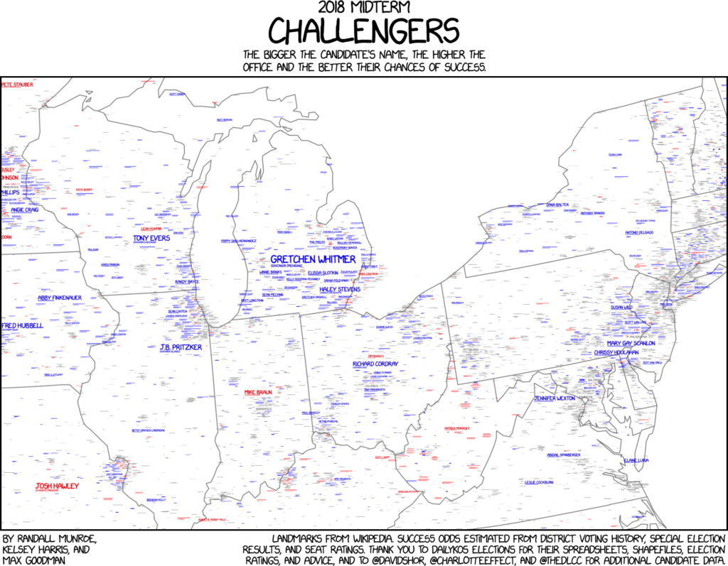 xkcd's 2018 Midterm Challengers Map – The Map Room