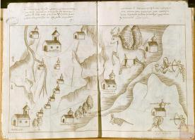 Texcaltitlán, ca. 1579-1580. Archivo General de Indias. Ministerio de Educación, Cultura y Deporte, Gobierno de España.