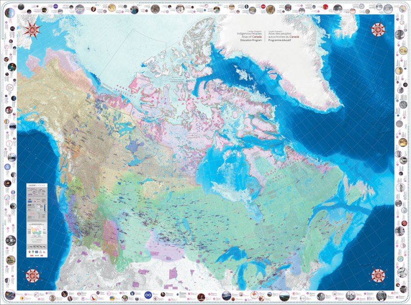 Indigenous Peoples Atlas of Canada Giant Floor Map