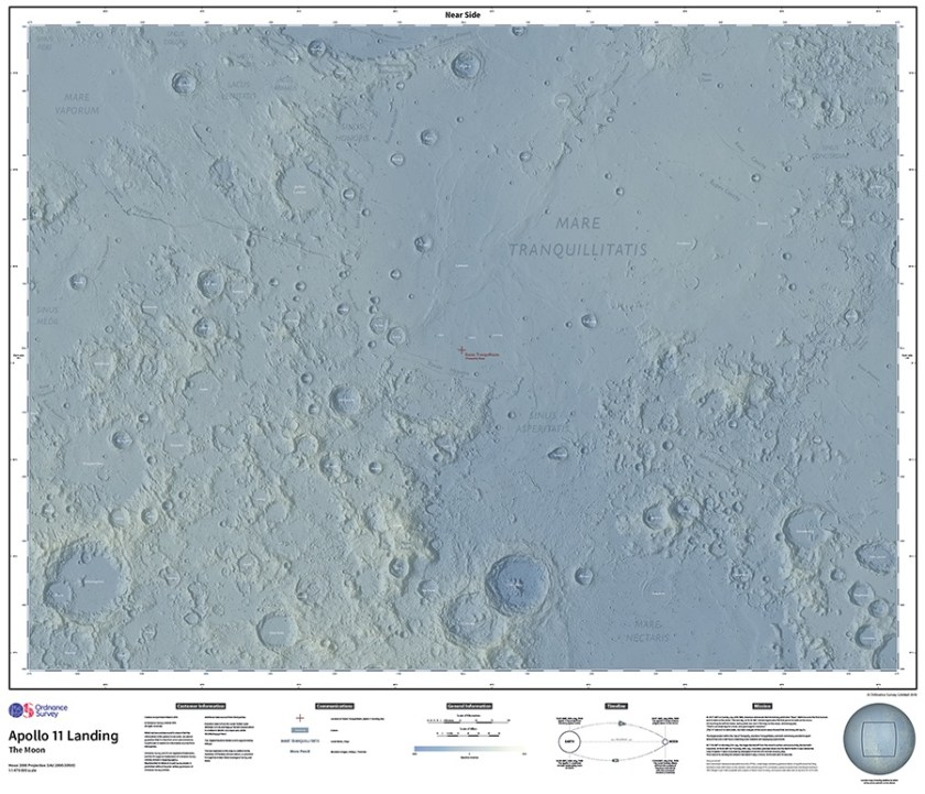 Map of The Moon: 50th Anniversary Edition Map