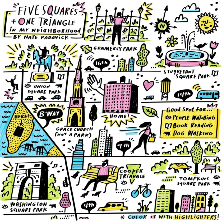 Five Squares + One Triangle in My Neighborhood (Nate Padavick)