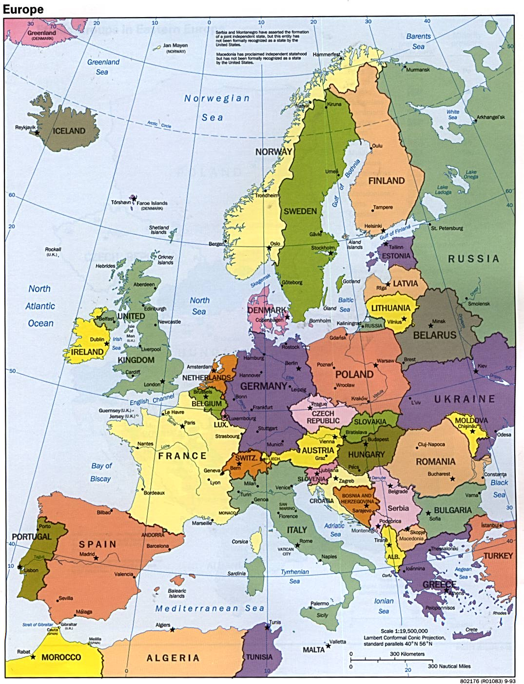 Maps Of Europe