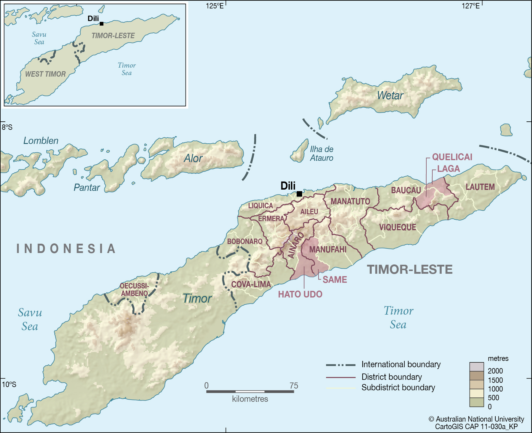 East Timor Map Coloring Pages
