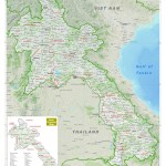 Maps Of Laos Detailed Map Of Laos In English Tourist Map Of Laos Road Map Of Laos Political Administrative Relief Physical Map Of Laos
