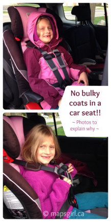 No winter coats in a car seat @ mapsgirl.ca