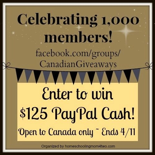 Canadian Giveaways 1000 Members Giveaway