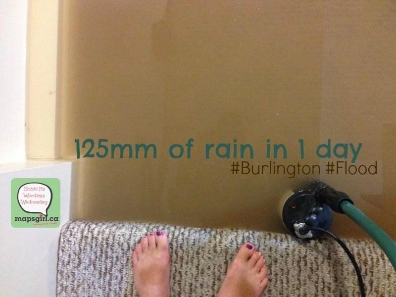 125mm of rain in 1 day #Burlington #Flood