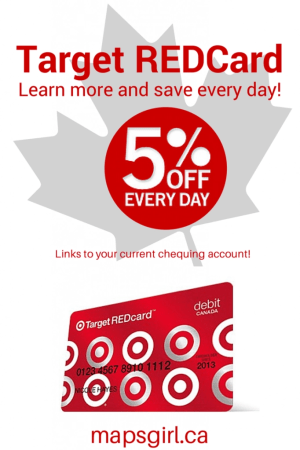 With Target REDCard you can save 5% every day at Target!