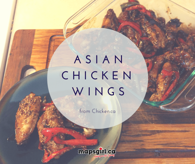 Asian Chicken Wings @ mapsgirl.ca #ChickenDotCa #ChickenApp