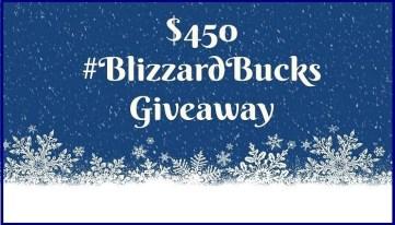 Blizzard Bucks giveaway @ mapsgirl.ca